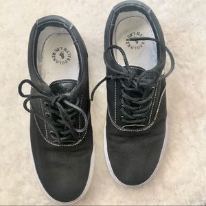 Polo black sneakers size 9. Used, no box.